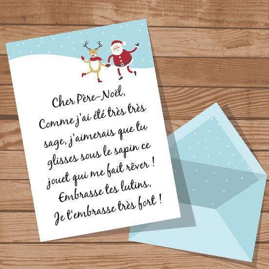 Une jolie lettre au père Noël d'un enfant