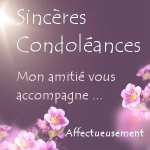 Jolie carte de condoléances à une amie Pour soutenir une personne en deuil