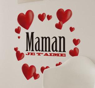 Belle carte Je t'aime Maman