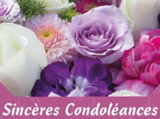 Belle image de condoléances et de réconfort à une personne en deuil