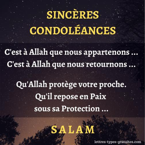 Fomules Condoleances Musulmanes Condoleance Islam Mort Musulman