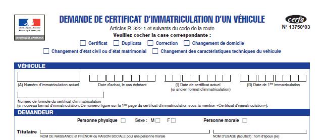 Formulaire cerfa n°15776*01 pour une attestation de vente d'un véhicule d'occasion entre particuliers