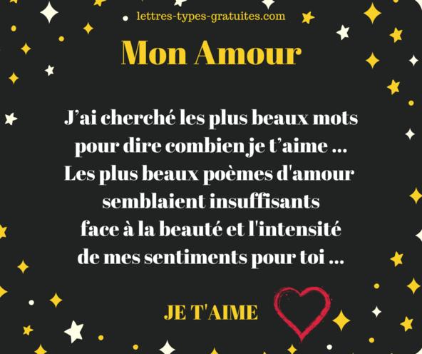 Jolie carte d'amour de la Saint Valentin - Image Je t'aime