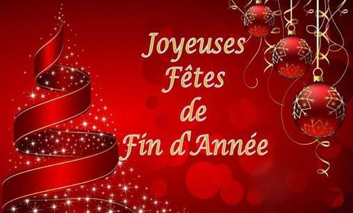 Jolie carte Joyeuses Fêtes à tous pour les fêtes de fin d'année