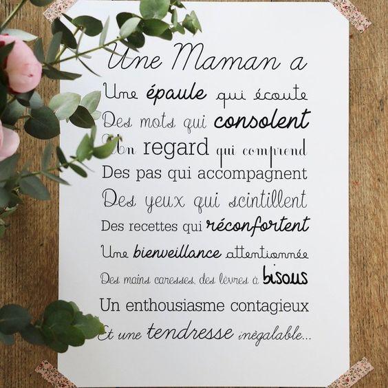 Messages pour la fête des mères - Texte Maman Je t'aime - Bonne fête