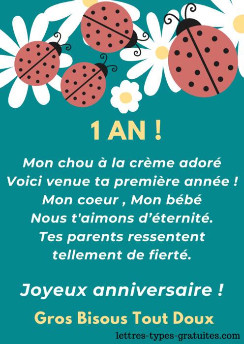 Jolie carte anniversaire bébé -Garçon ou fille