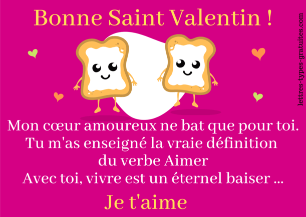 Jolie carte de la Saint Valentin romantique