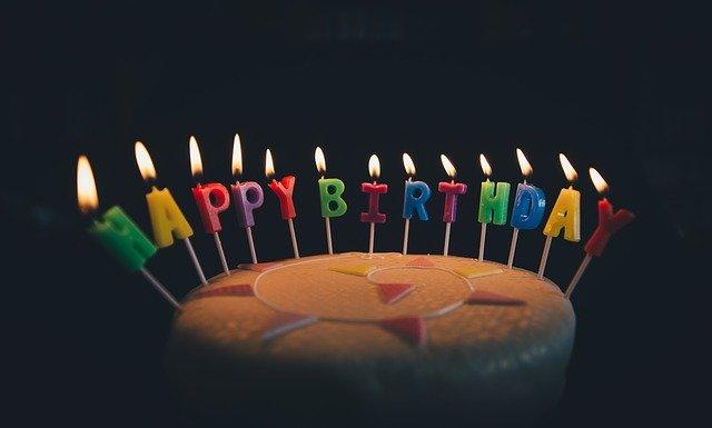 Image pour souhaiter une bon anniversaire simple et dire Happy Birthday